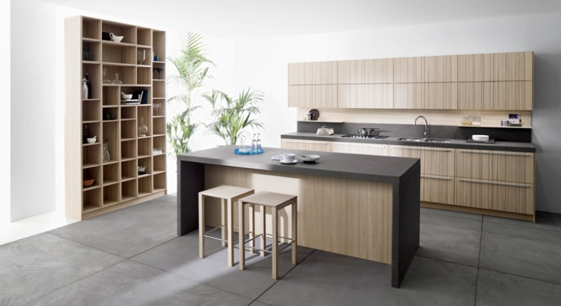 simple kitchen designs with natural color ideas