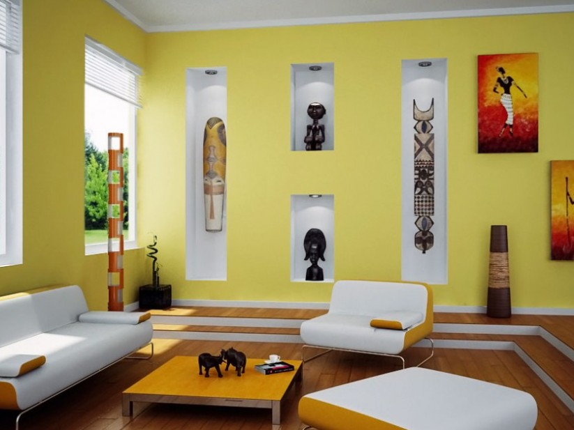 Yellow And White Paint Color Combination