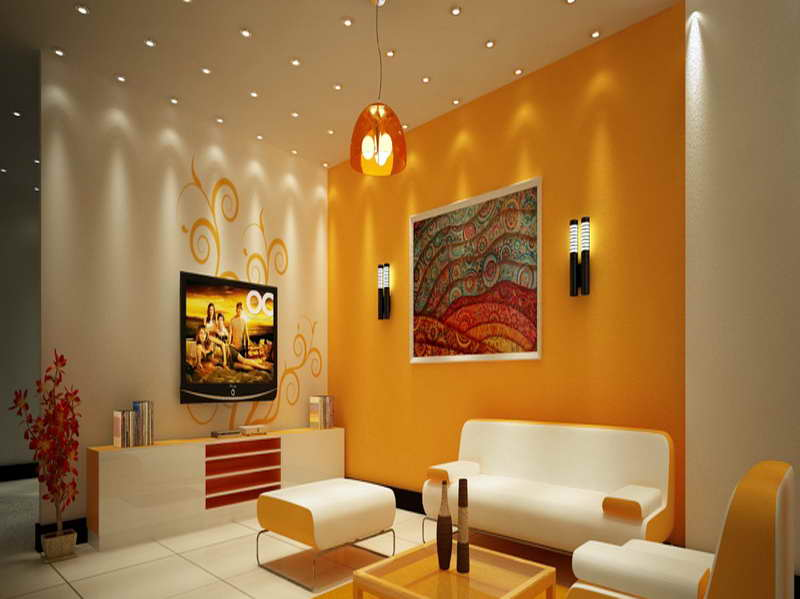 7 Living Room Interior Paint Colors Orange Color Orange Color Can Make A Determination Or Creating