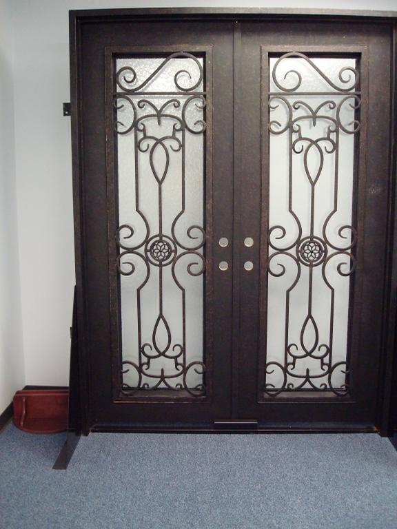 Awesome Iron Front Door Design Image