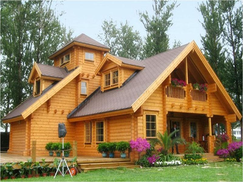 Awesome Wooden Home Exterior Design Image