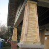 Awesome Wooden Terrace Pole Design Image