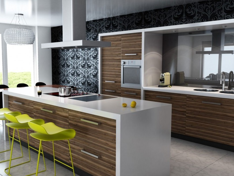 Trend modern kitchen interior idea 2014 4 home ideas for Kitchen set mini bar