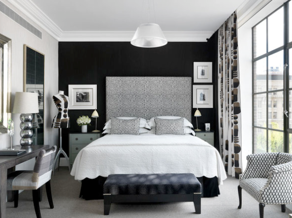 Black And White Bedroom Paint Color
