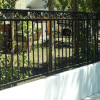 Black Iron Fence Color For Minimalist House