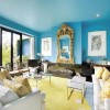 Blue Living Room Paint Color Idea