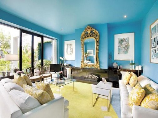 blue living room paint color idea - Paint Color Selection For Living Room