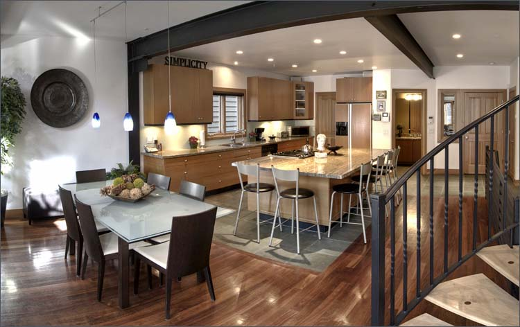Kitchen With Dining Room open plan kitchen design ideas ideal home Contemporary Kitchen And Dining Room Image