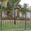 Cool Black Iron Fence Design Idea