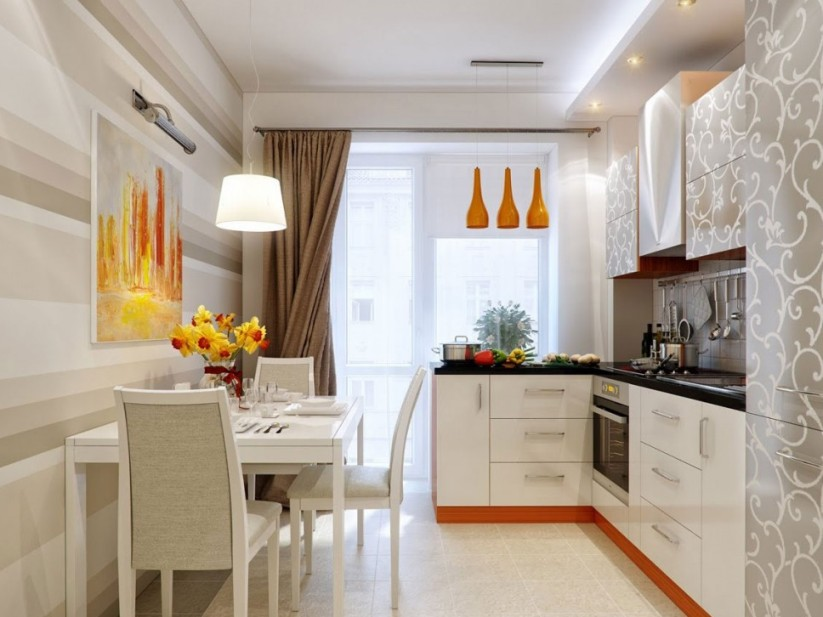 Elegant Minimalist Kitchen And Dining Room