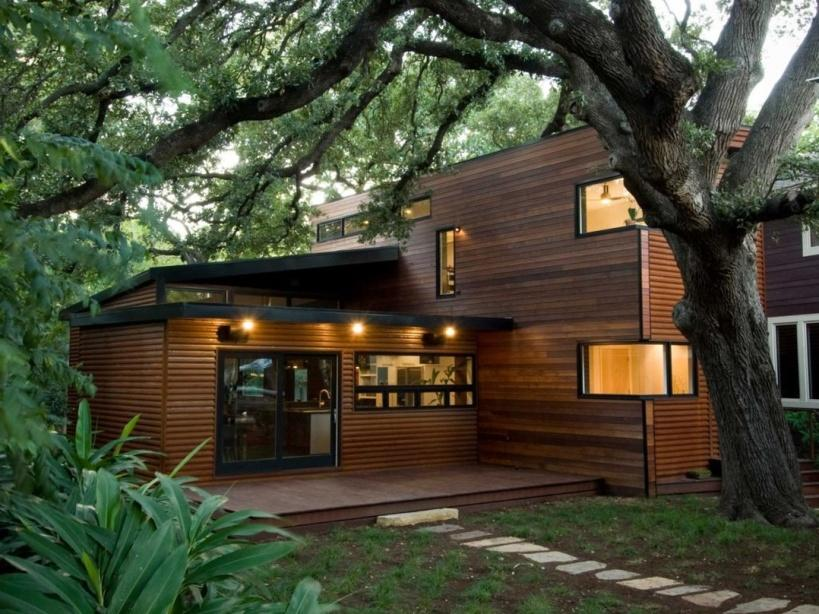 Elegant Minimalist Wooden Home Design Picture