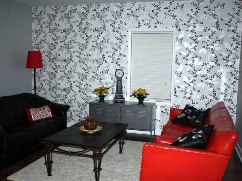 Great Wallpaper Design For Small Living Room