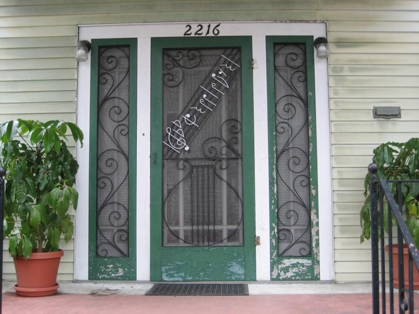 Green And White Color For Front Door