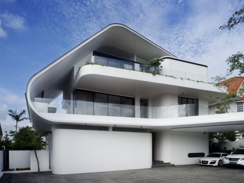 Latest Modern House Design With White Paint