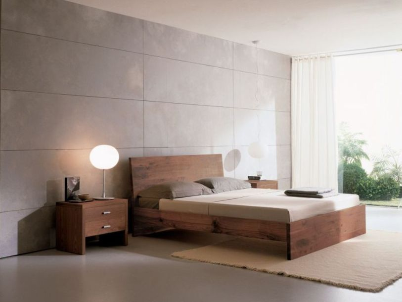 Bedroom interior design for modern house 4 home ideas for Modern minimalist bed