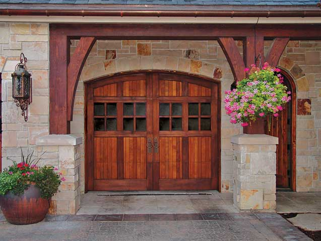 Minimalist Wooden Front Door Design Idea