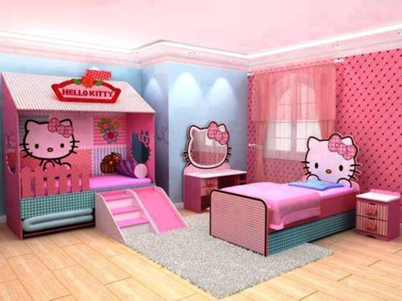 Delicieux ... Hello Kitty Bedroom Decor Idea Modern Home Bedroom Design For Girls ...