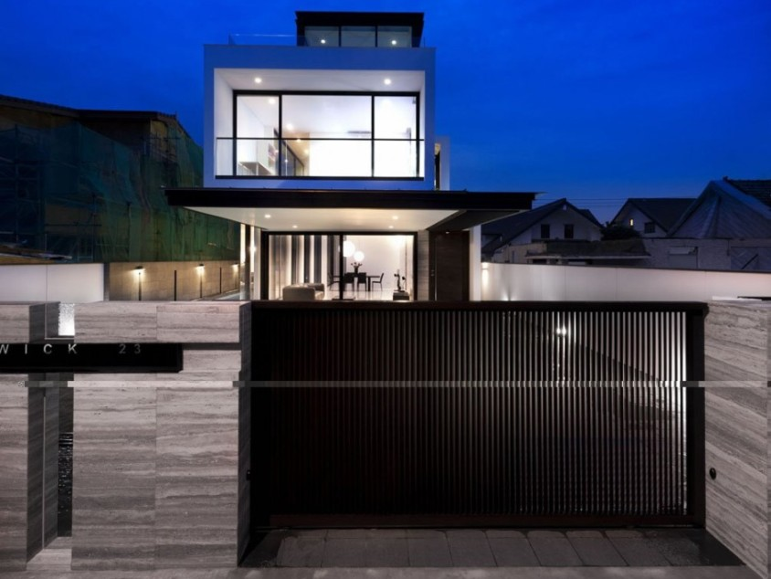 Nice Modern Minimalist Home Fence Layout