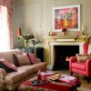 Pink Living Room Furniture Set Color