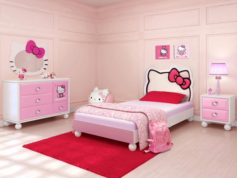 Pretty Hello Kitty Bedroom Decor Idea