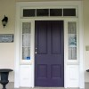 Simple Black Front Door Design Image