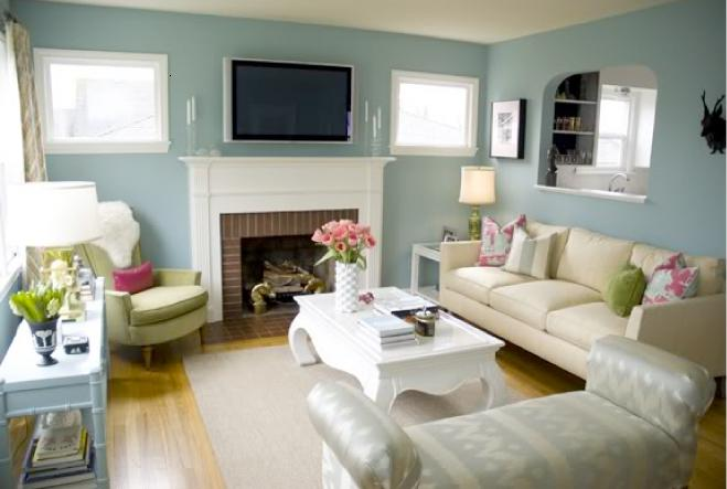 Simple Lovely Living Room Design Image