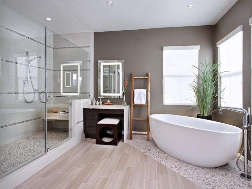 Simple Minimalist Bathroom Interior Design Idea