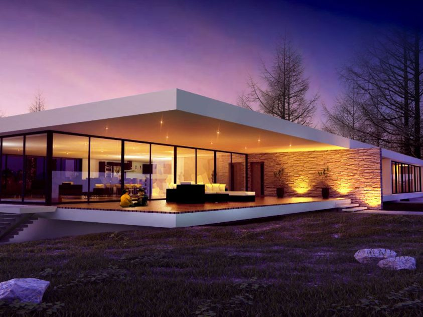 Unique 1 floor modern house collection 4 home ideas for House design minimalist modern 1 floor