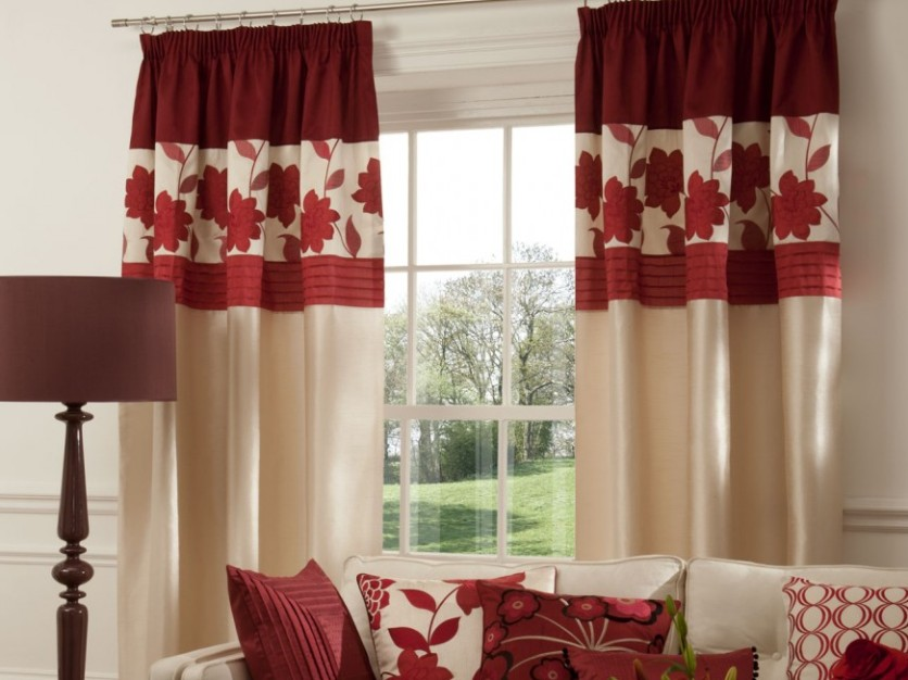 Beautiful Curtain Design With Flower Pattern - 4 Home Ideas