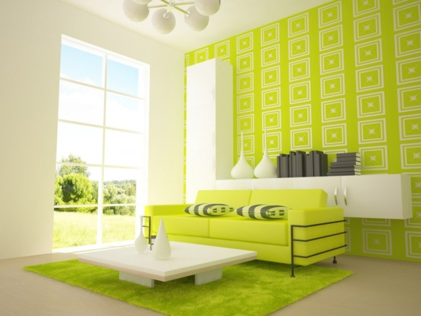 Beautiful Green Paint Design For Bedroom
