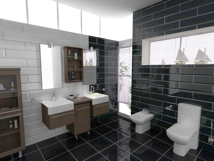 Black Bathroom Color Small Space