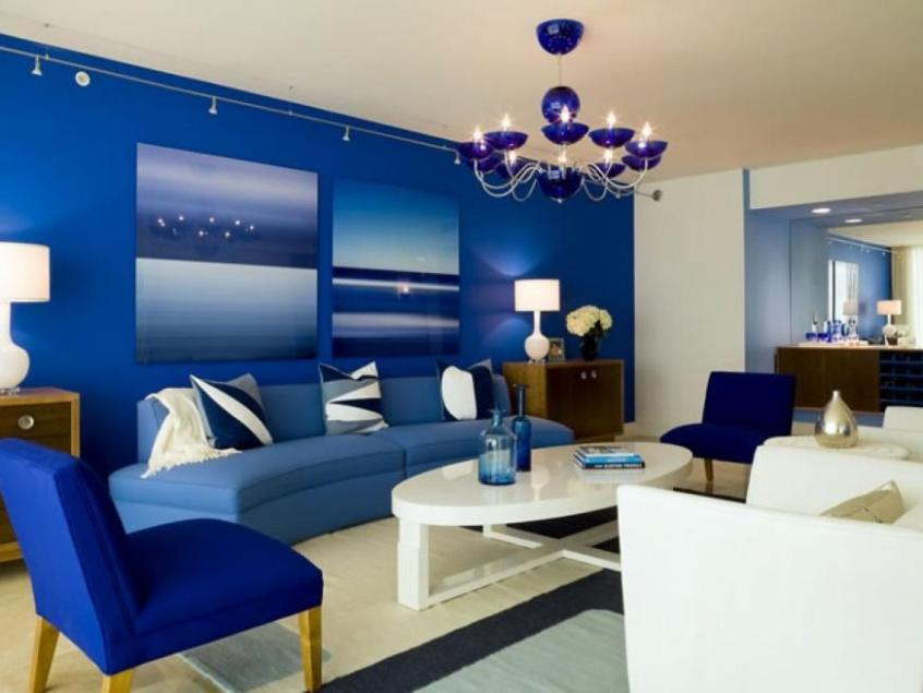 Blue Modern Living Room Furniture Ideas