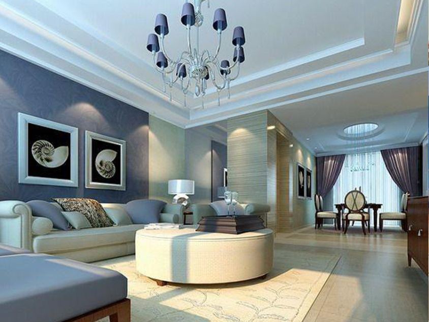 Blue Wall Design For Home Interior