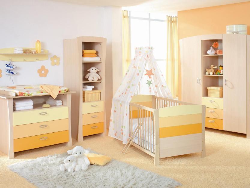 Bright Color Combination For Baby Bedroom