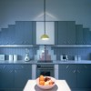 Contemporary Blue Kitchen Interior Design Idea