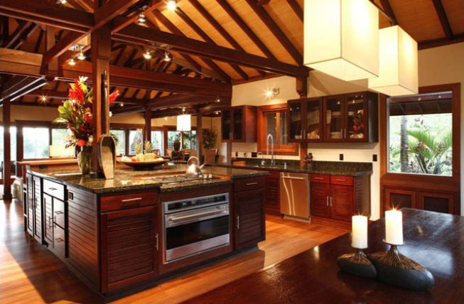 Contemporary Brown Kitchen Interior Design Idea