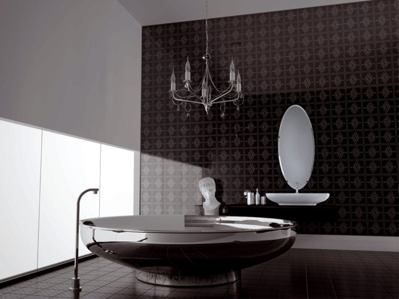Dark Ceramic Color To Make Bathroom Beautiful