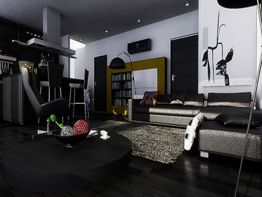Elegant Black Furniture For Living Room