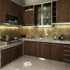 Elegant Kitchen Interior With Brown Furniture
