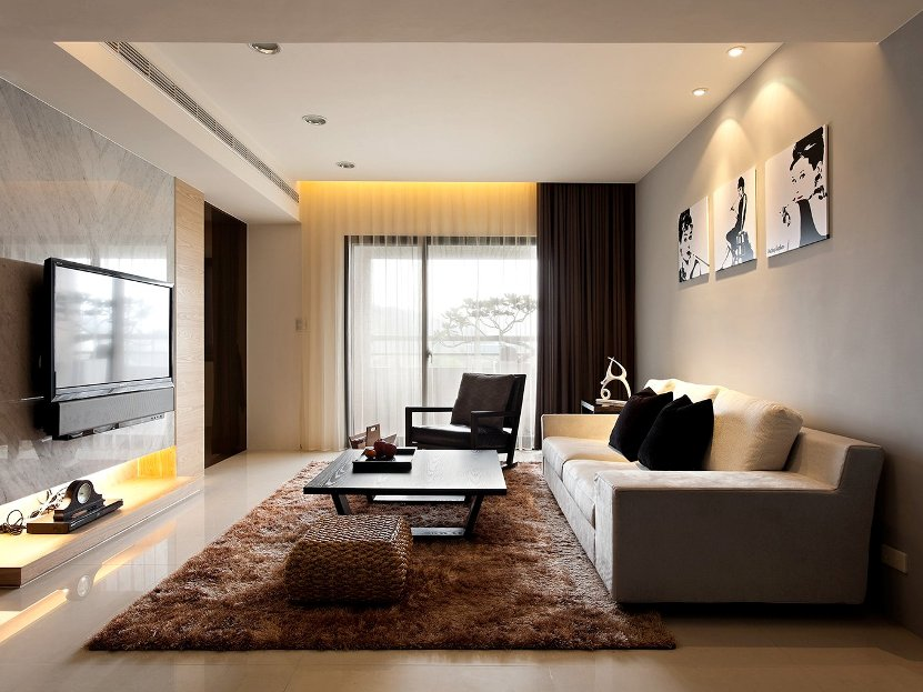 Elegant Minimalist Living Room Decor Image