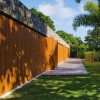 Elegant Wooden Fence Idea For Home Secure