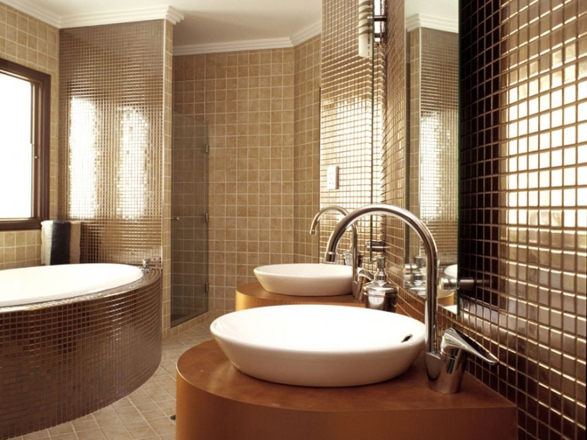 Glossy Ceramic For Bathroom Interior