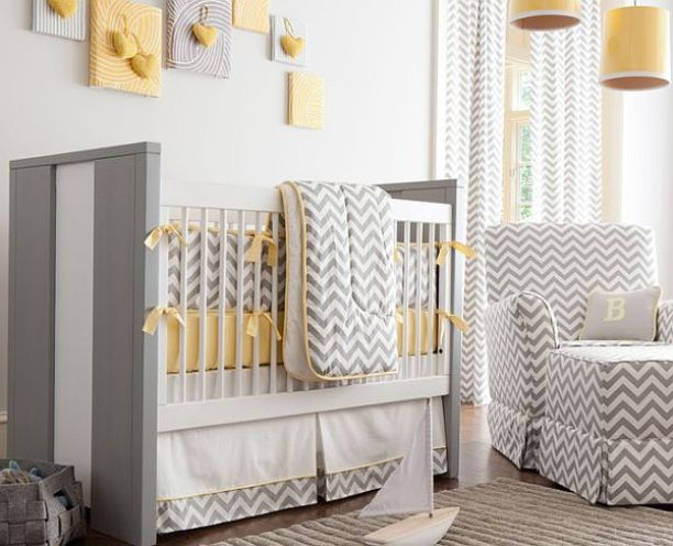 Gray White Color For Baby Bedroom Design