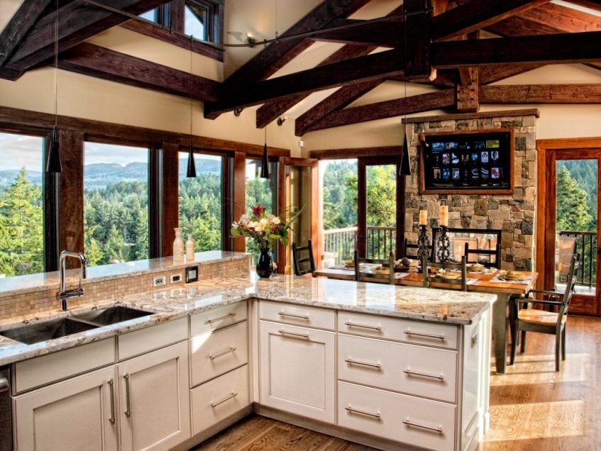 Luxury Home Kitchen Design With Beautiful View