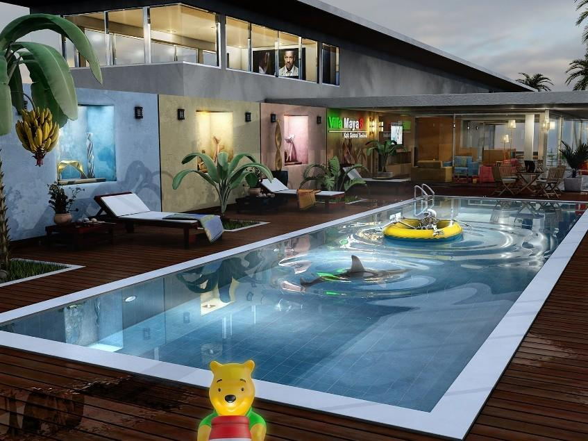 Charming swimming pool design inspiration 4 home ideas for Swimming pool design layout