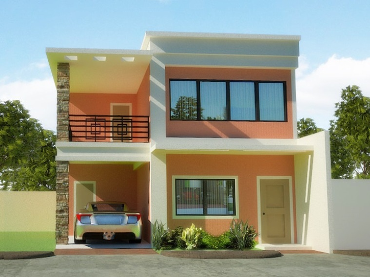 Minimalist 2 Floor Home Exterior Design