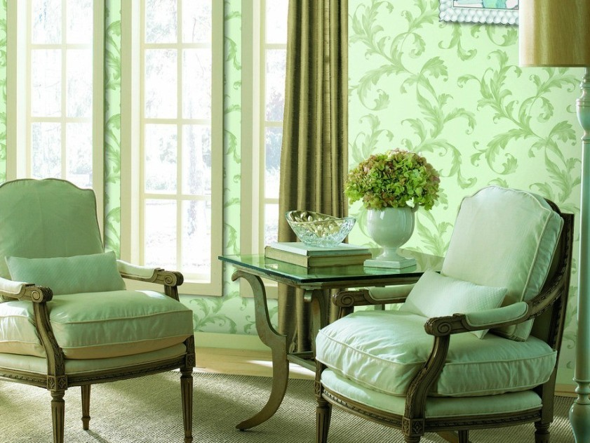 Minimalist Green Wallpaper Idea For Home