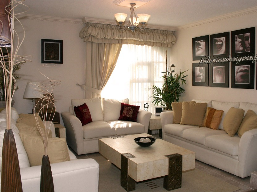 Minimalist Living Room With White Paint