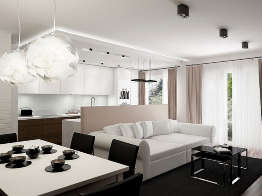 Modern Black And White Apartment Color
