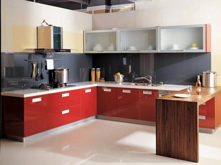 Modern Color Idea For Simple Kitchen